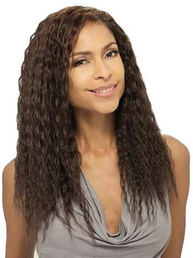 Good Brown Wavy Long African American Wigs