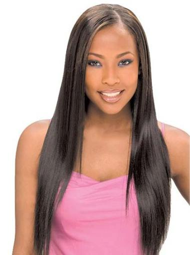 Lace Front Black Straight Fashionable Glueless Lace Front Wigs