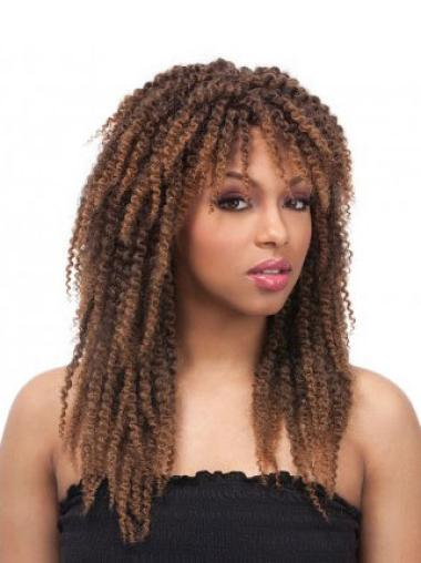 Durable Brown Curly Long African American Wigs