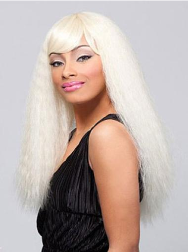 New Blonde Straight Long African American Wigs