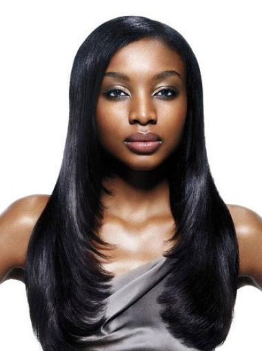 Amazing Black Straight Long African American Wigs
