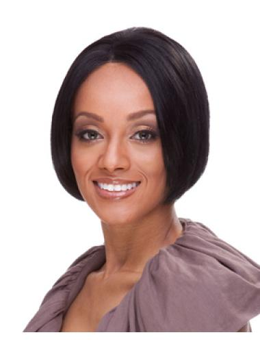 Lace Front Black Straight Fashionable Synthetic Wigs