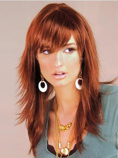 Fashion Synthetic Straight Auburn Long Wigs