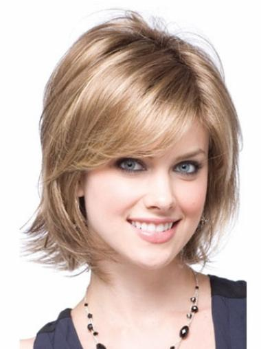 Good Wavy Blonde Chin Length Synthetic Wigs