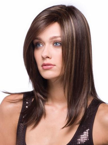 New Synthetic Straight Auburn Long Wigs