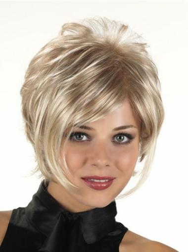 Graceful Blonde Curly Short Synthetic Wigs