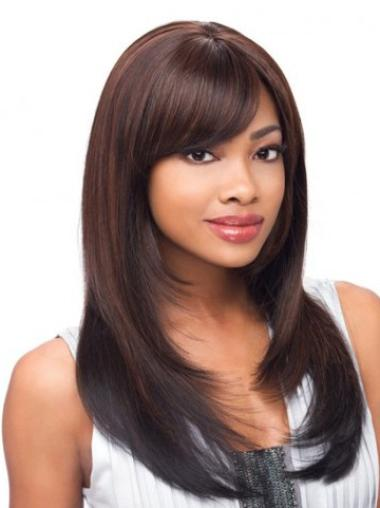 Style Lace Front Straight Synthetic Long Wigs