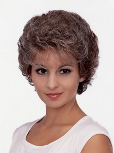 Beautiful Brown Curly Short Classic Wigs