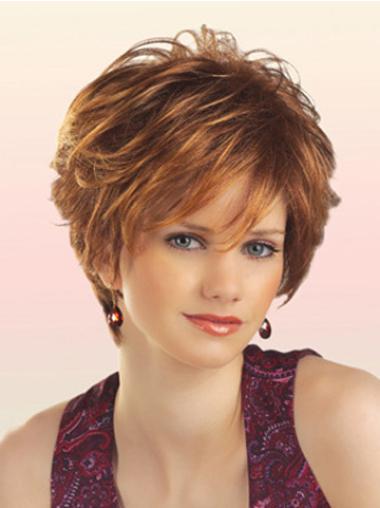 Braw Auburn Wavy Short Synthetic Wigs