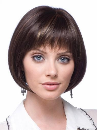Lace Front Brown Straight Cosy Synthetic Wigs