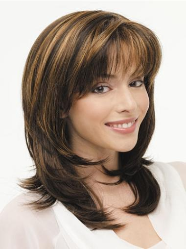 Affordable Lace Front Straight Synthetic Long Wigs