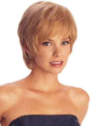 Refined Auburn Straight Short Synthetic Wigs