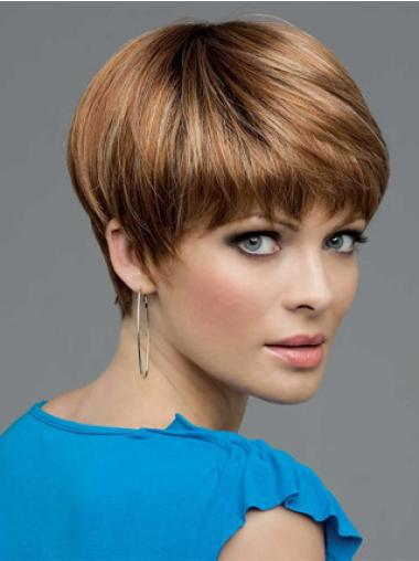 Lace Front Brown Straight Wholesome Short Wigs