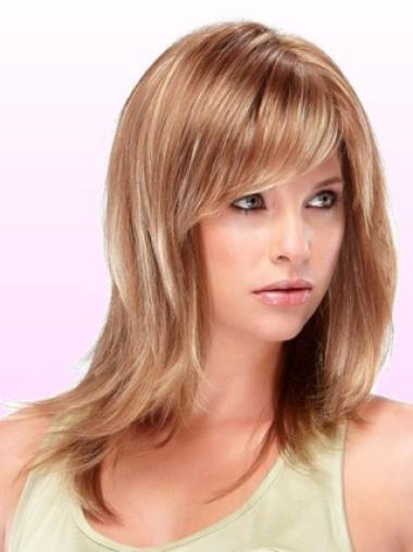 Trendy Auburn Straight Shoulder Length Wigs