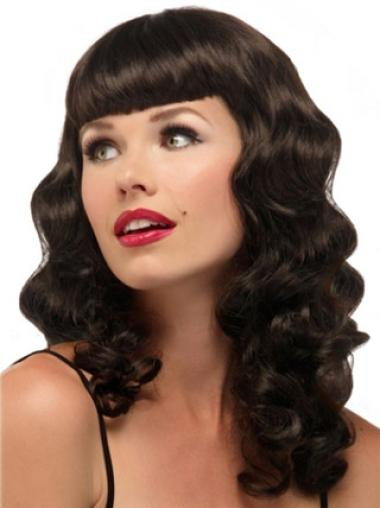 Fashion Synthetic Wavy Brown Long Wigs
