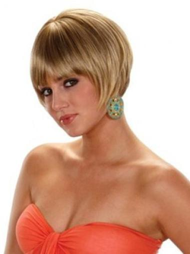 Hairstyles Blonde Straight Short Synthetic Wigs