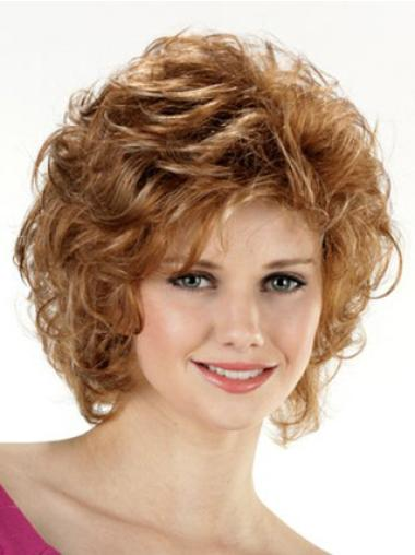 Lace Front Brown Curly Braw Classic Wigs