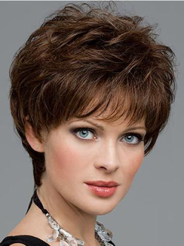 Lace Front Brown Wavy Fabulous Short Wigs