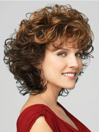 Lace Front Brown Curly Durable Classic Wigs