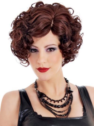 Sassy Auburn Curly Short Classic Wigs