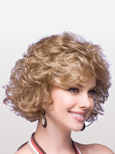 Ideal Blonde Curly Chin Length Classic Wigs
