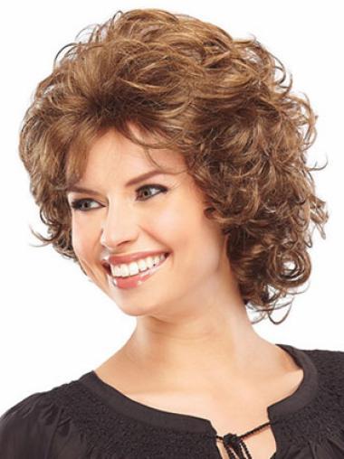 Sleek Auburn Curly Chin Length Classic Wigs