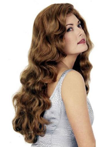 Fashionable Auburn Wavy Long Synthetic Wigs