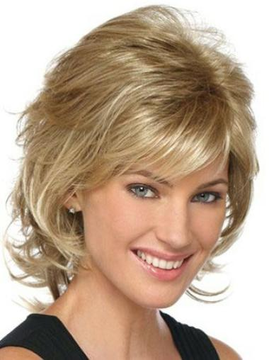 Lace Front Blonde Wavy Natural Classic Wigs