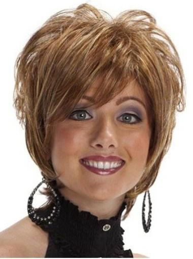 Fabulous Brown Wavy Short Synthetic Wigs
