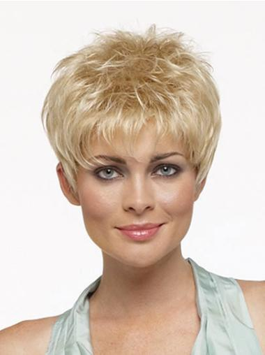 Easy Blonde Straight Cropped Synthetic Wigs