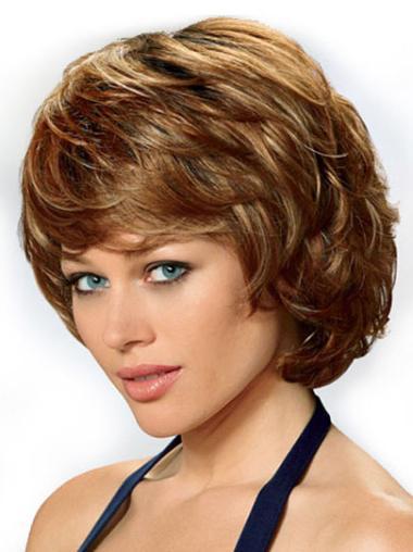 Lace Front Auburn Wavy Nice Classic Wigs