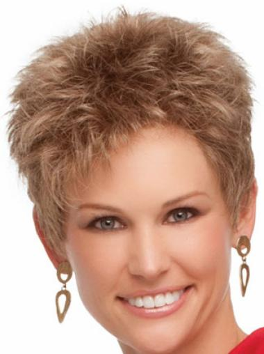 Designed Blonde Wavy Cropped Synthetic Wigs