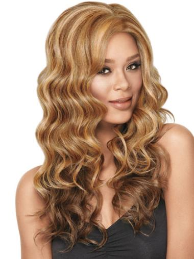 Graceful Blonde Wavy Long Synthetic Wigs
