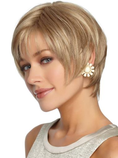 Wholesome Blonde Straight Short Synthetic Wigs