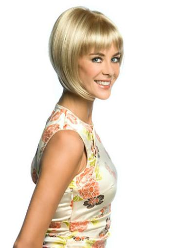 Blonde Bobs Straight Natural Lace Wigs