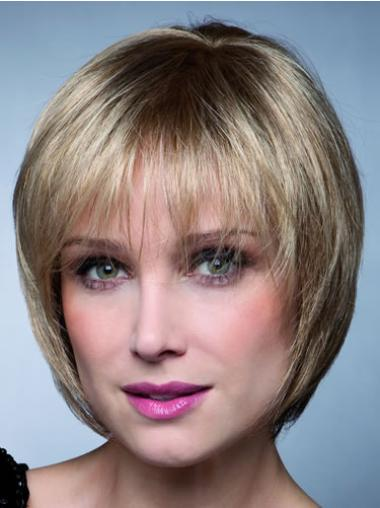 Great Blonde Straight Short Synthetic Wigs