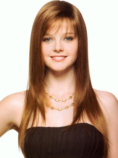 Style Brown Straight Long Synthetic Wigs