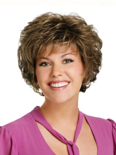 Preferential Brown Curly Short Classic Wigs