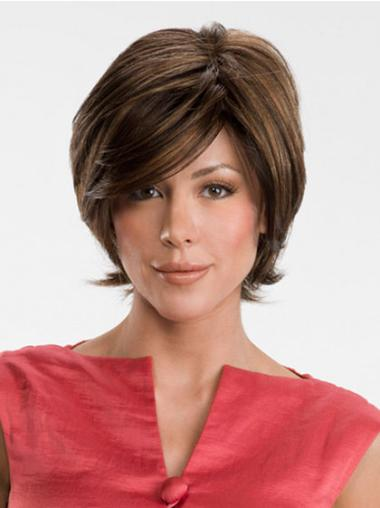 Lace Front Brown Straight Comfortable Medium Wigs