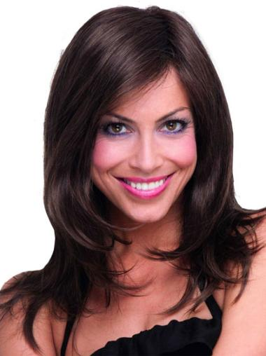 Discount Brown Straight Long Synthetic Wigs