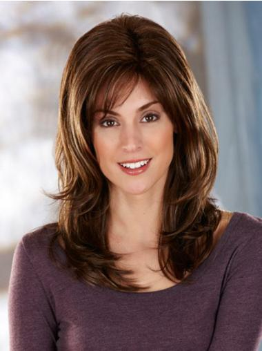Modern Brown Wavy Long Synthetic Wigs