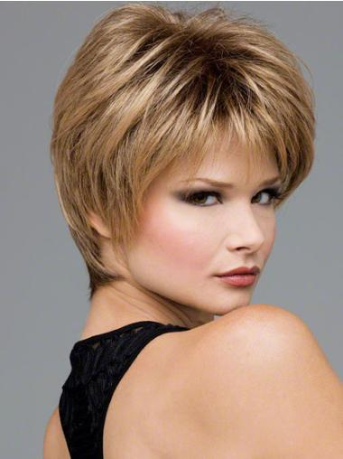 Sassy Blonde Wavy Short Lace Front Wigs