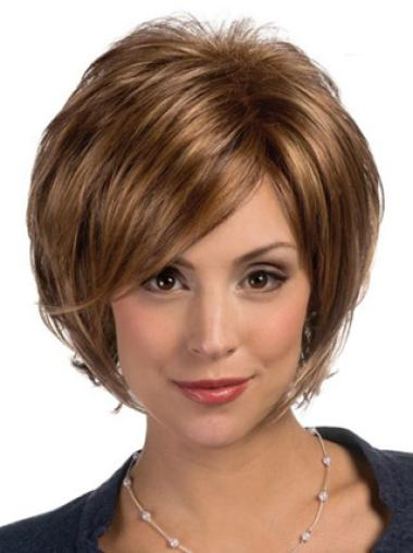 Brown Bobs Straight Durable Lace Wigs