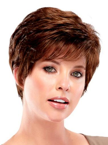 Style Auburn Wavy Cropped Synthetic Wigs