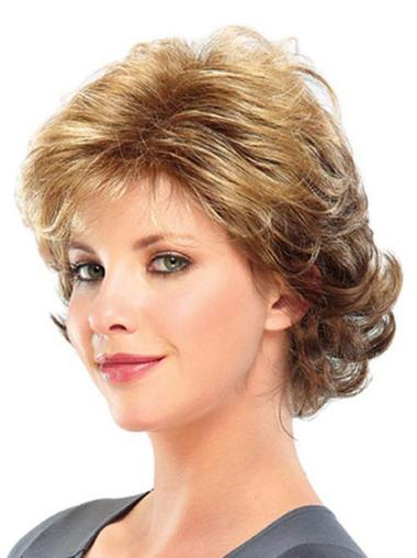 Modern Blonde Curly Short Classic Wigs
