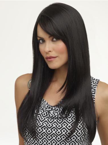 Comfortable Black Straight Long Synthetic Wigs
