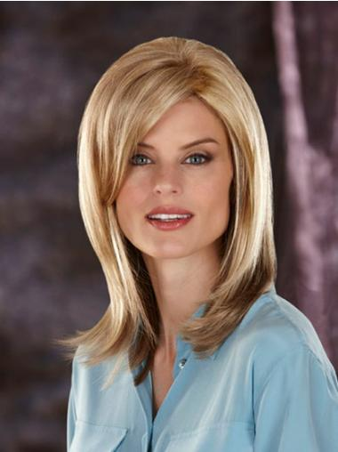 Sassy Blonde Straight Shoulder Length Synthetic Wigs