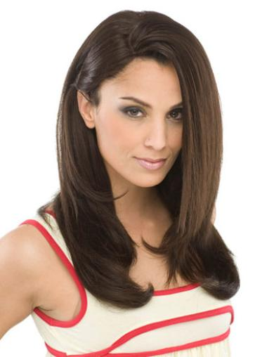 Traditiona Brown Straight Long Synthetic Wigs