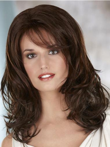 Lace Front Brown Wavy Flexibility Classic Wigs