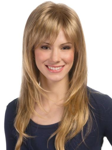 Blonde Layered Wavy Wholesome Lace Wigs